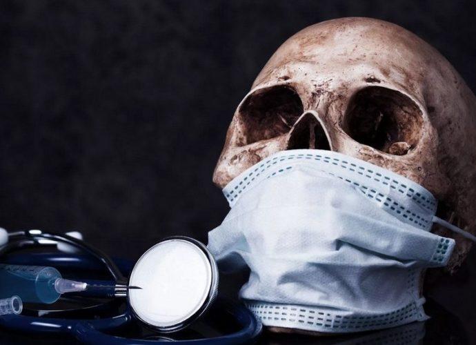 череп коронавирус смерть