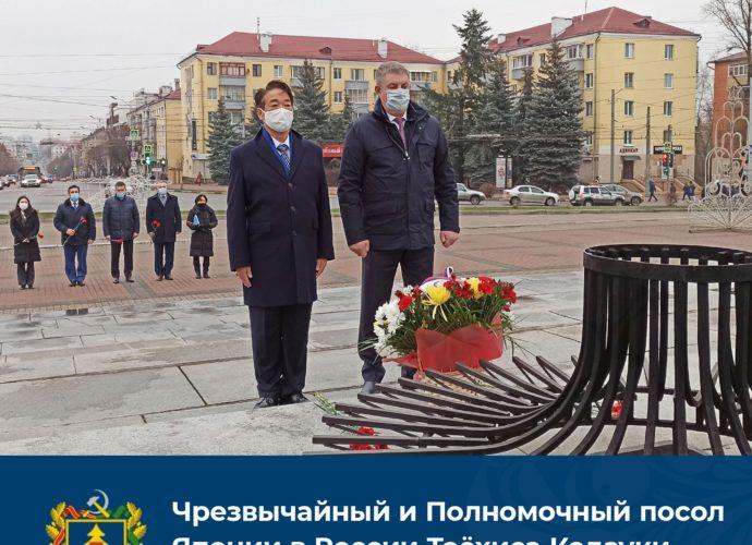 посол япония богомаз площадь партизан цветы