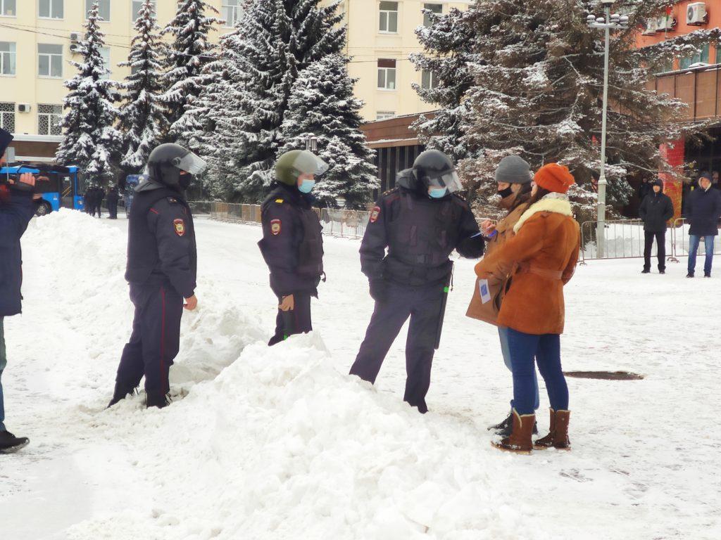 Воробьева Елена задержание полиция митинг 31.03