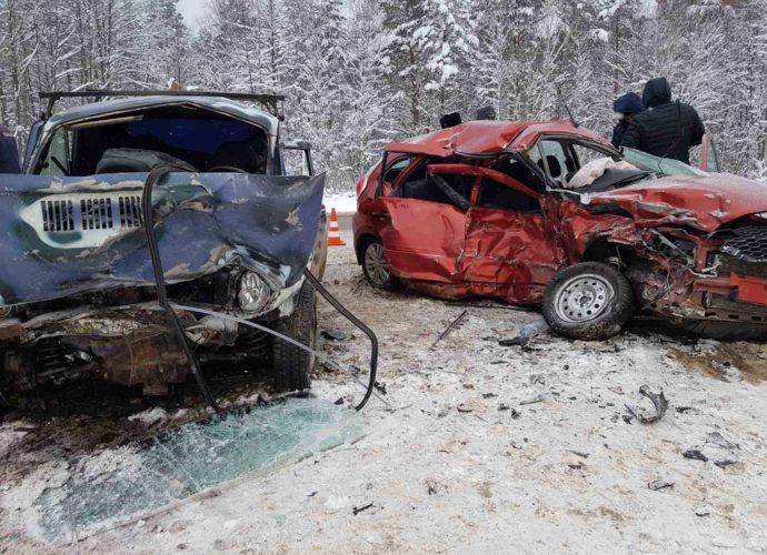 авария-карачев-женщина на датсун погибла-встречка-16012021-2